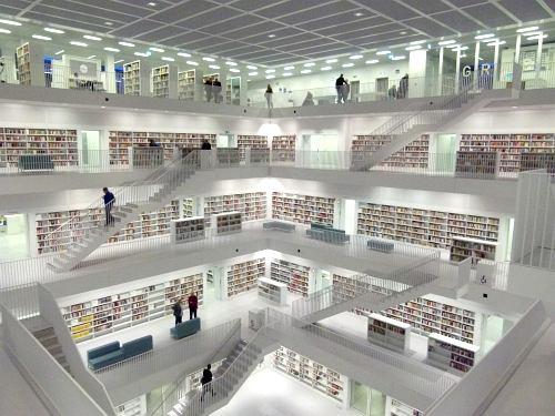 Die neue Stadtbibliothek in Stuttgart