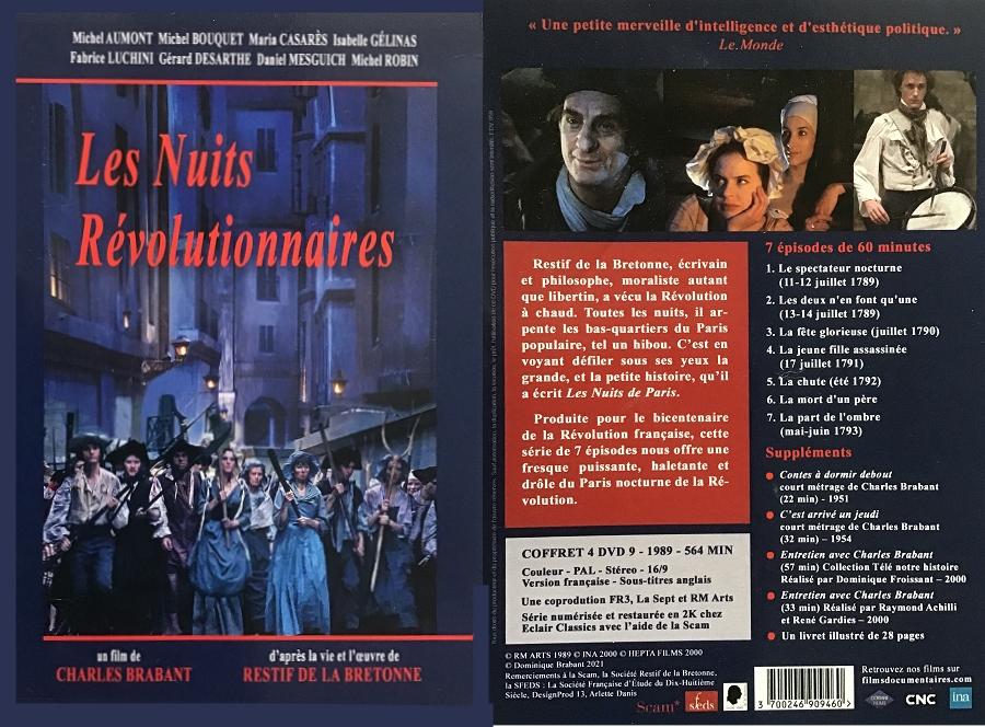 DVD: Rétif de la Bretonne, Les Nuits révolutionnaires